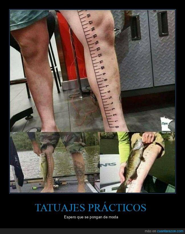 longitud,medir,peces,pierna,regla,tatuaje
