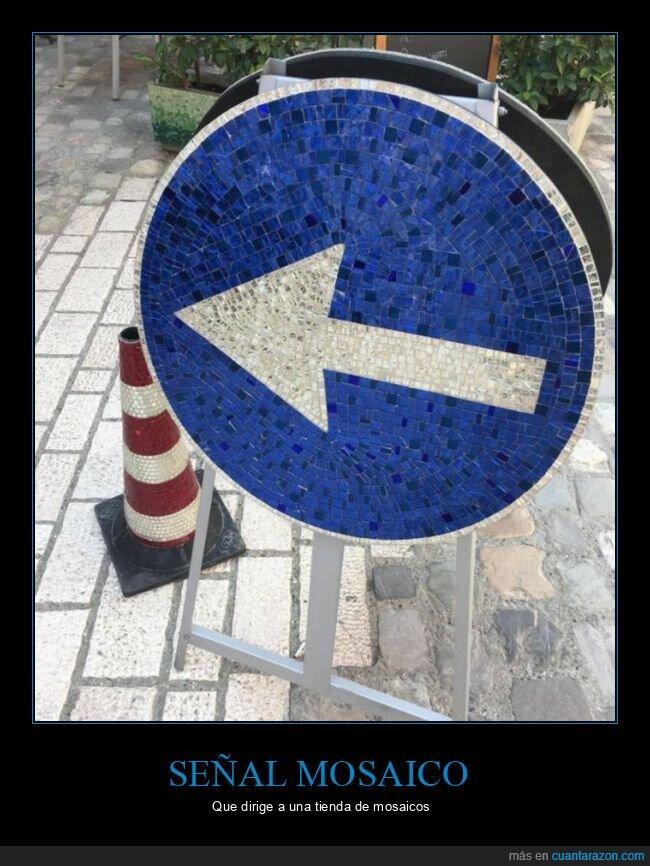 flecha,mosaico,señal
