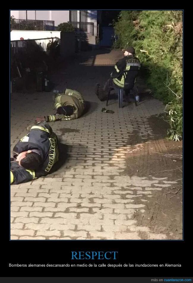 alemania,bomberos,descansar