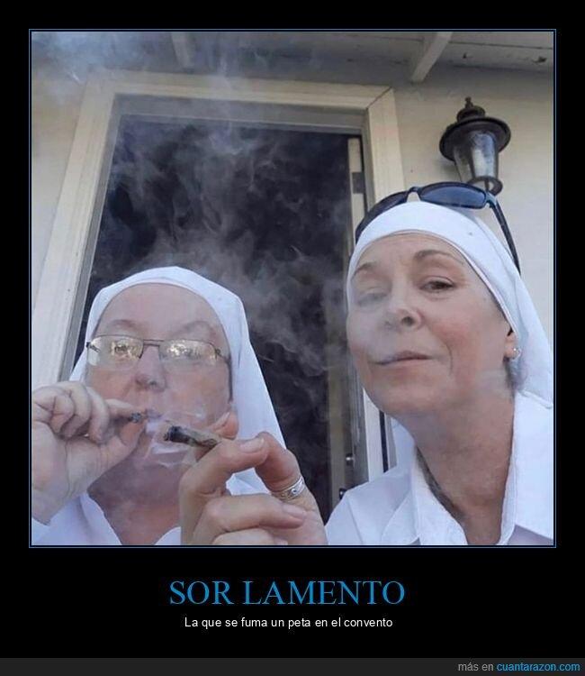 fumar,monjas,peta