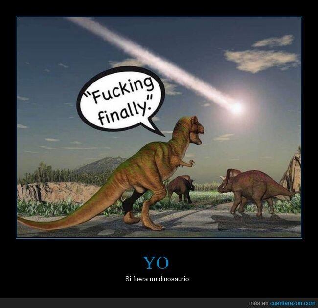 dinosaurio,fin del mundo,por fin