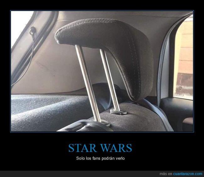 coche,reposacabezas,star wars