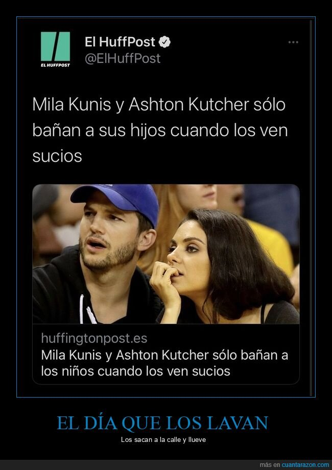 ashton kutcher,bañar,hijos,mila kunis