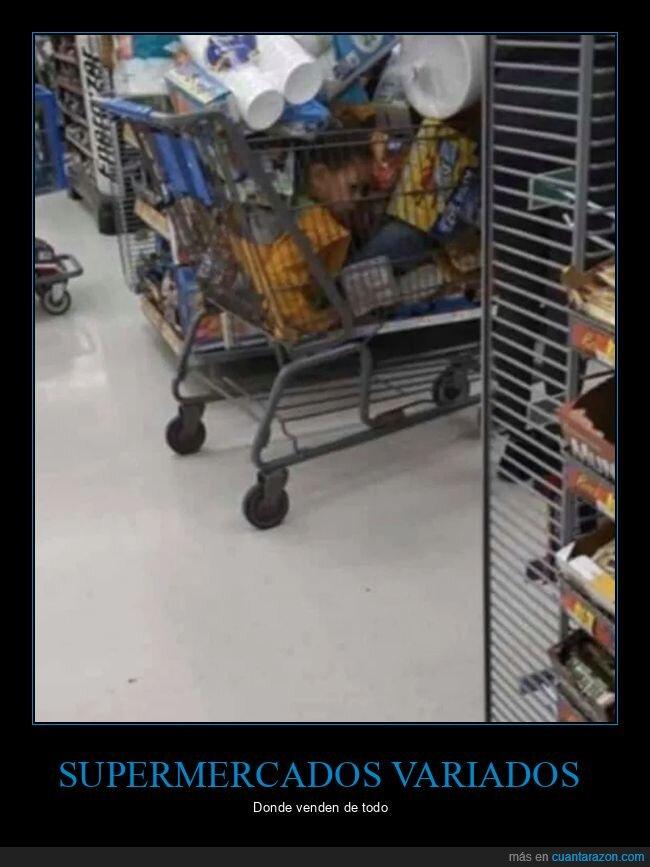 carrito,niño,supermercado