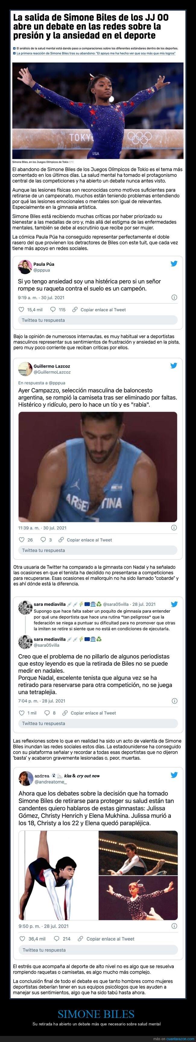 juegos olímpicos,retirada,salud mental,Simone Biles