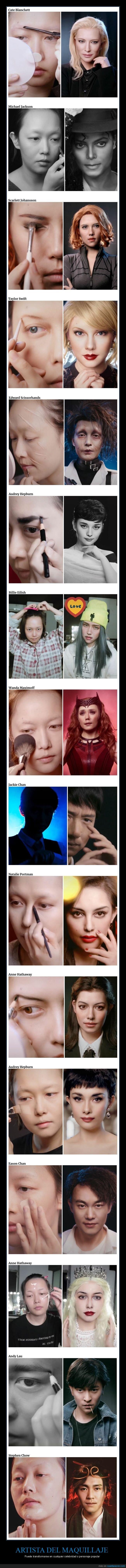 famosos,maquillaje,transformaciones