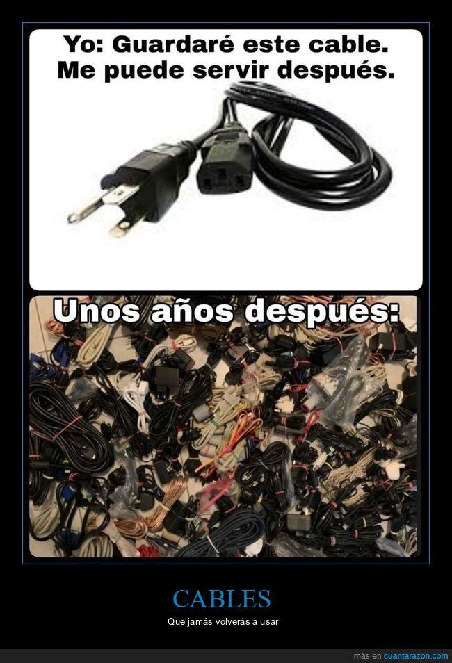 cables,guardar