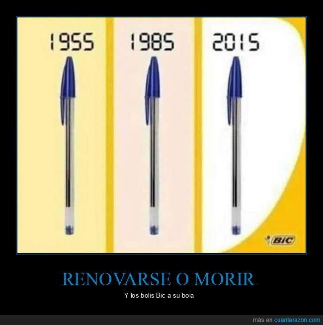 años,bic,bolígrafos,diseño
