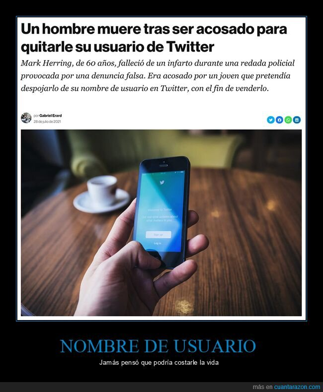 acoso,muerte,twitter,usuario