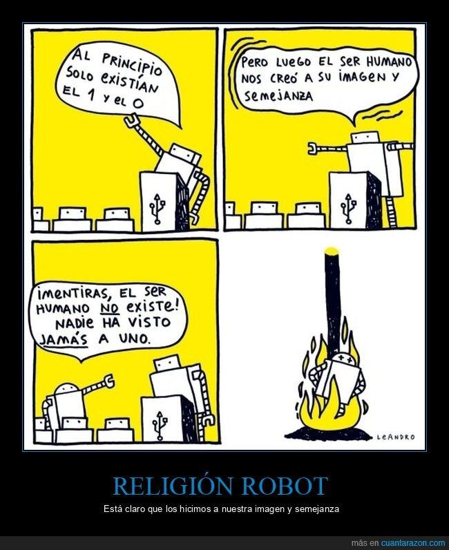 humanos,religión,robots