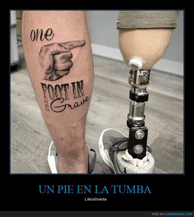 pie,tatuaje,tumba