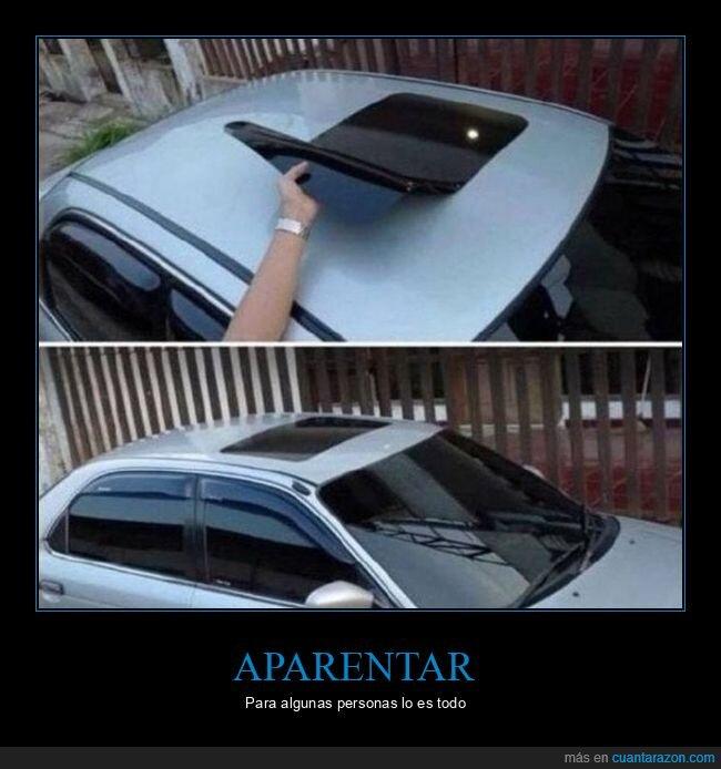 coches,falso,techo solar