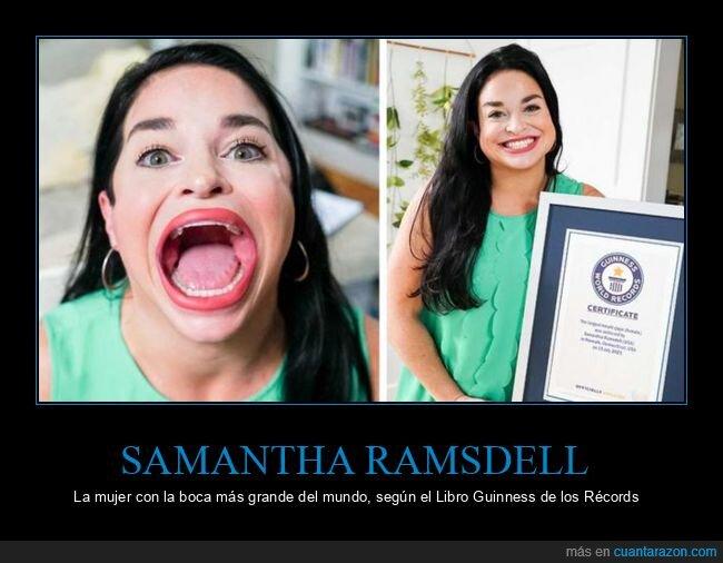 boca,grande,récord,Samantha Ramsdell