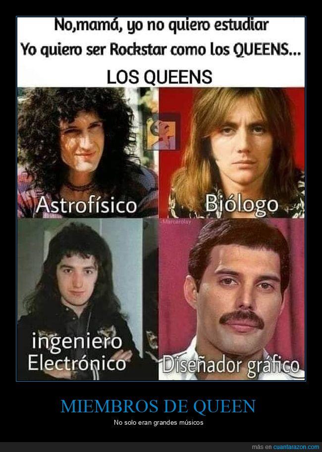estudiar,queen,rockeros