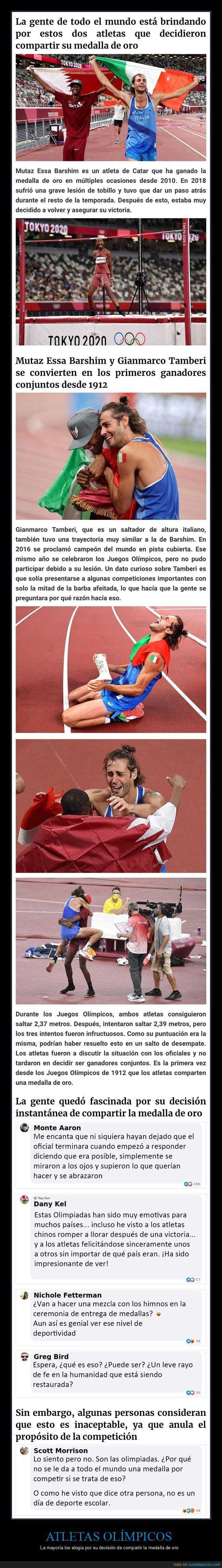atletas,juegos olímpicos.compartir,medalla,oro