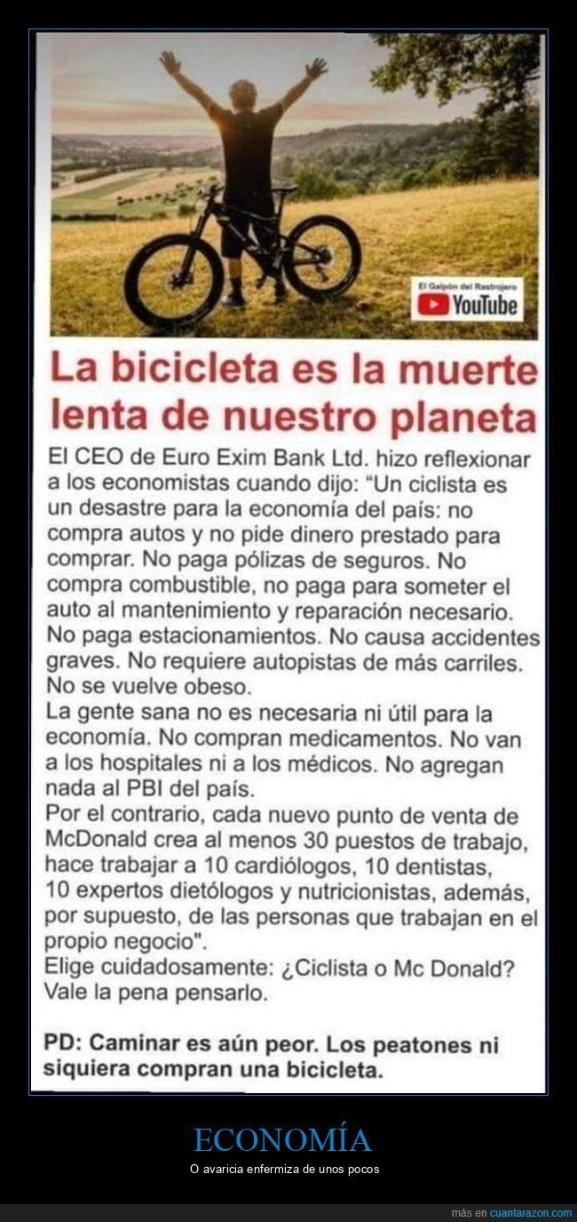 ciclistas,economía