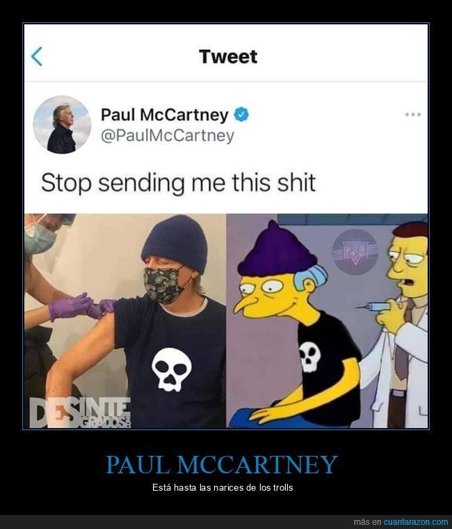 burns,parecidos,paul mccartney,simpsons,vacunándose