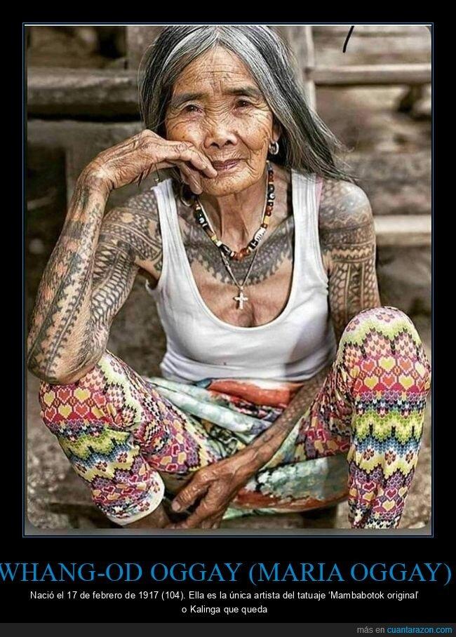 Maria Oggay,tatuaje mambabotok,Whang-Od Oggay