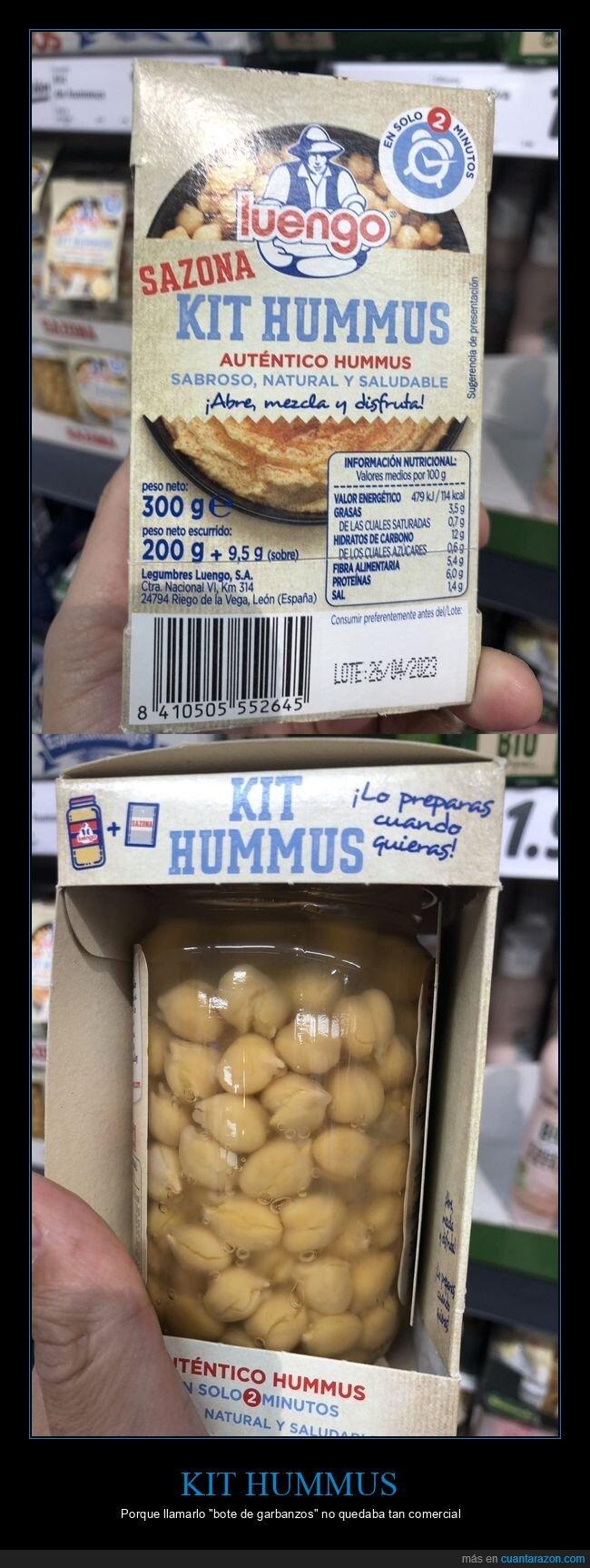 garbanzos,hummus,kit