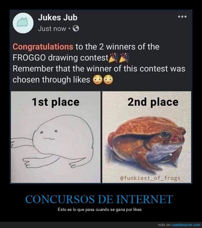 concurso,dibujo,internet,likes,rana