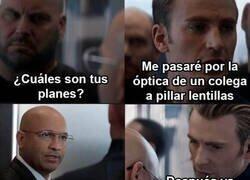 Enlace a El Capitán América y sus problemas de visión