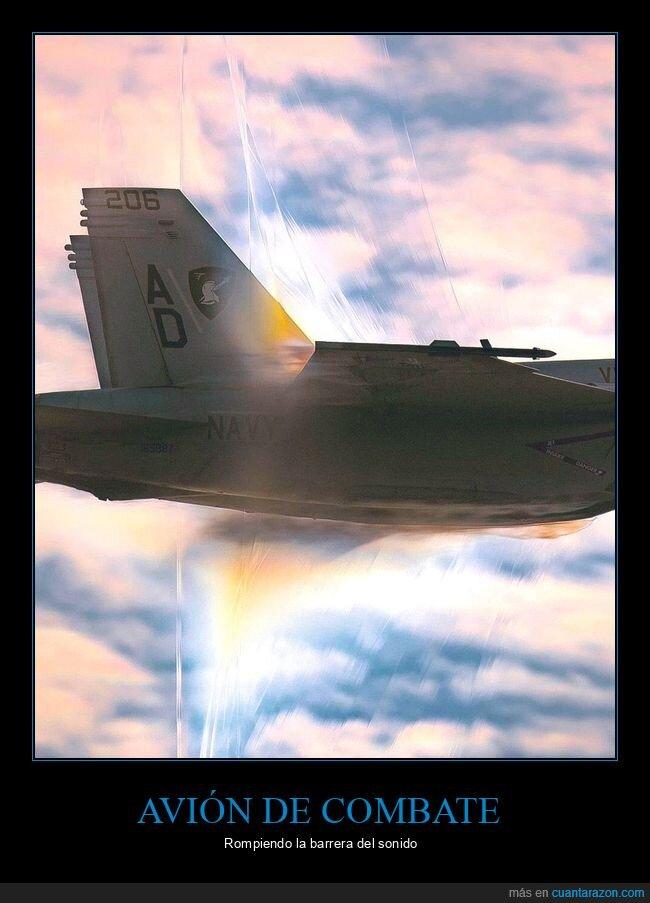 avión,barrera del sonido