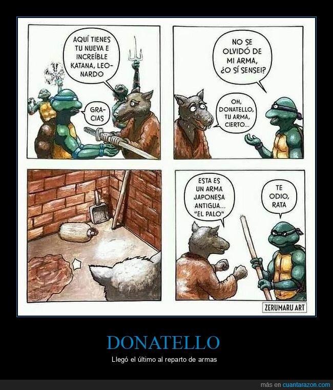 armas,donatello,palo,tortugas ninja