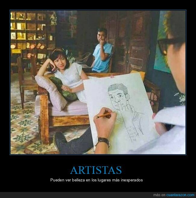 artista,dedo,dibujando,nariz
