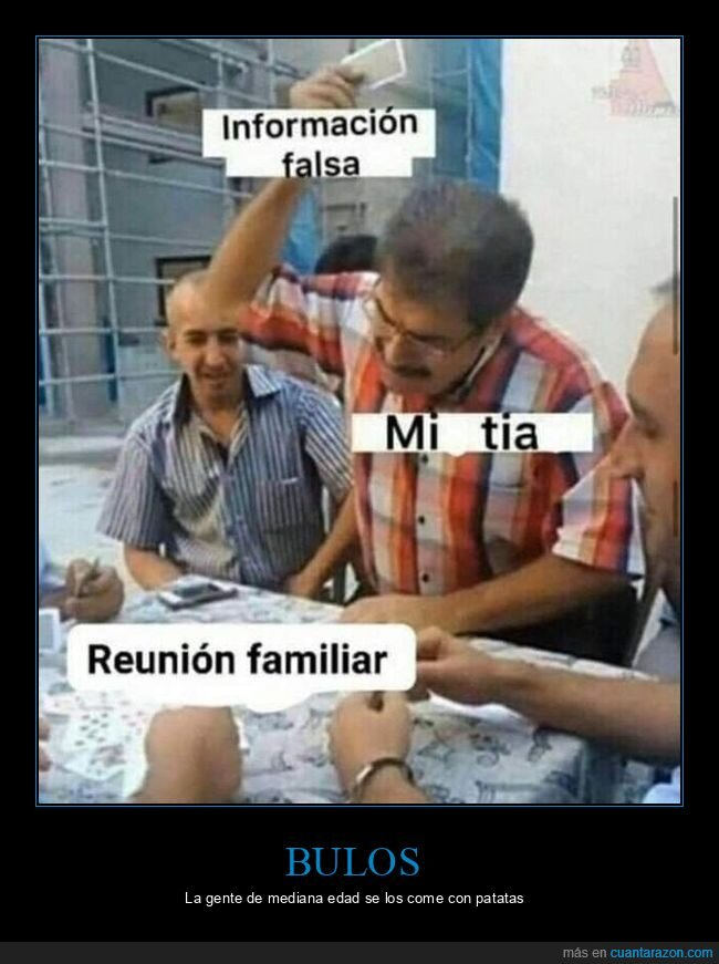información falsa,reunión familiar,tía