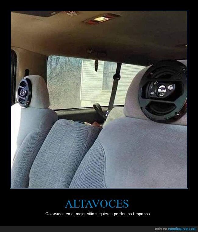 altavoces,asientos,coches