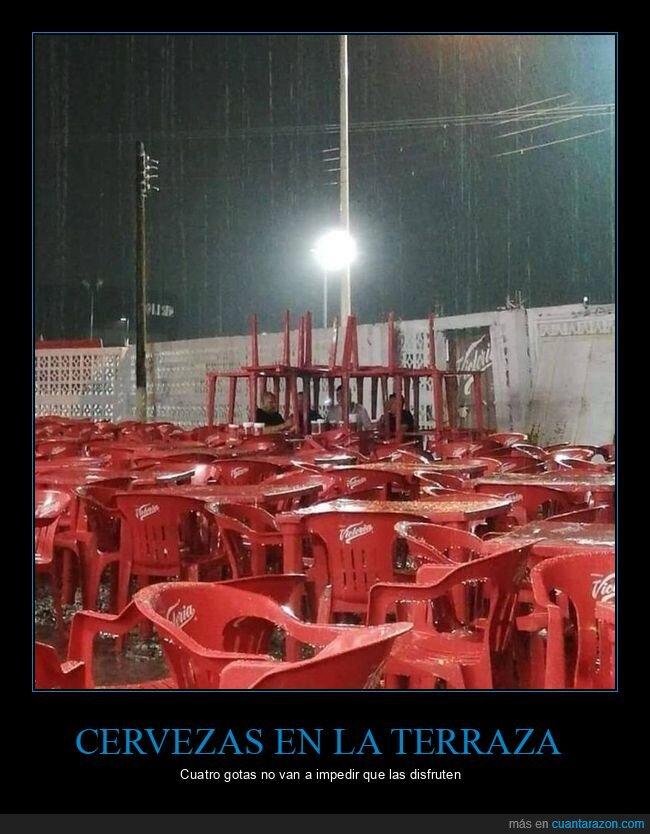 lluvia,mesas