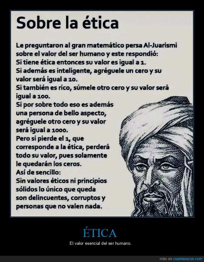 ética,matemático,ser humano