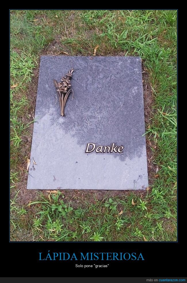 gracias,lápida
