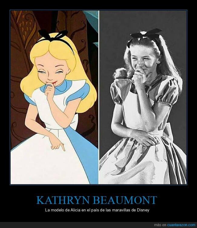 alicia en el país de las maravillas,Kathryn Beaumont,modelo