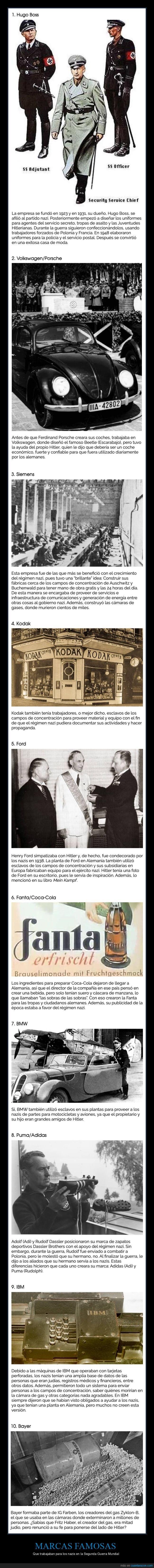ii guerra mundial,marcas,nazis