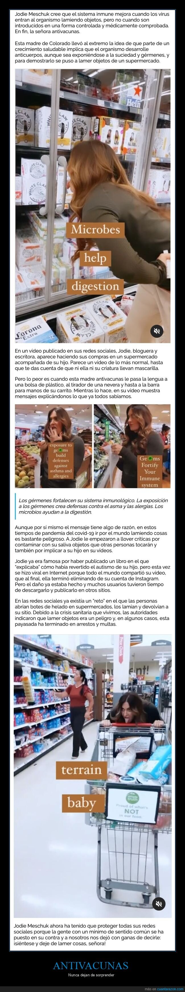 antivacunas,influencer,lamer,supermercado