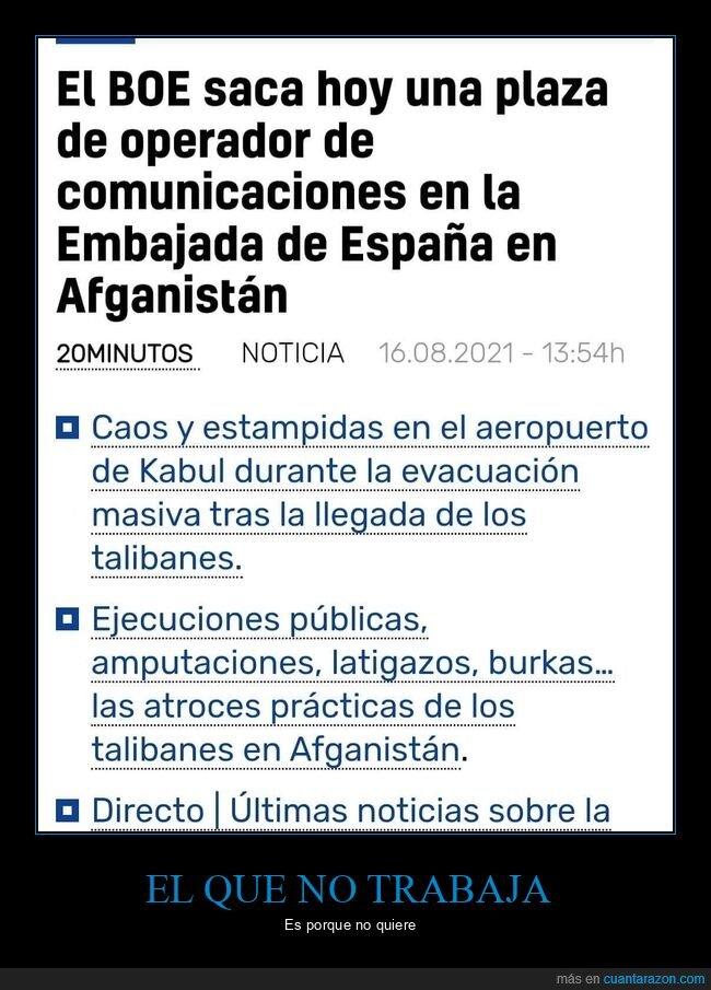 afganistán,boe,embajada,operador de comunicaciones