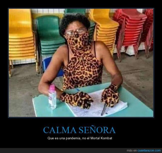 conjuntada,guantes,leopardo,mascarilla,señoras,wtf