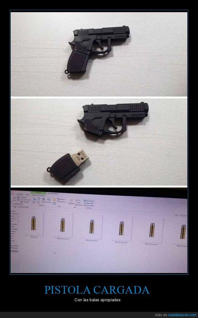 balas,pistola,usb