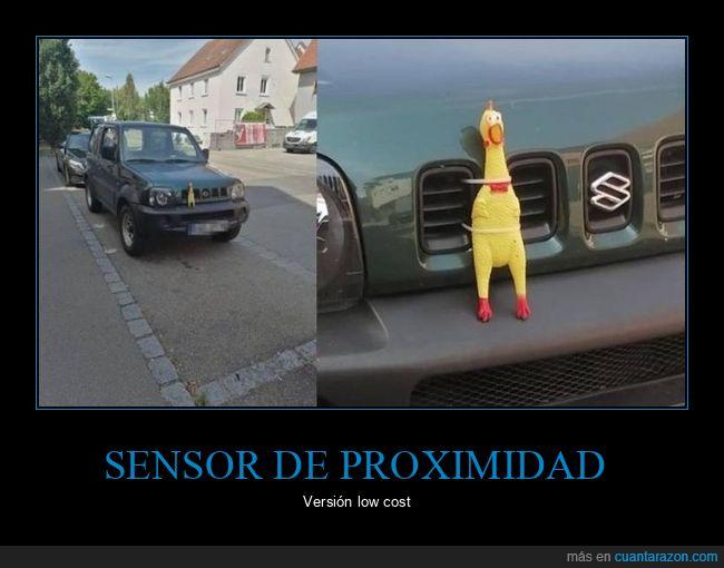 coche,pollo,sensor de proximidad