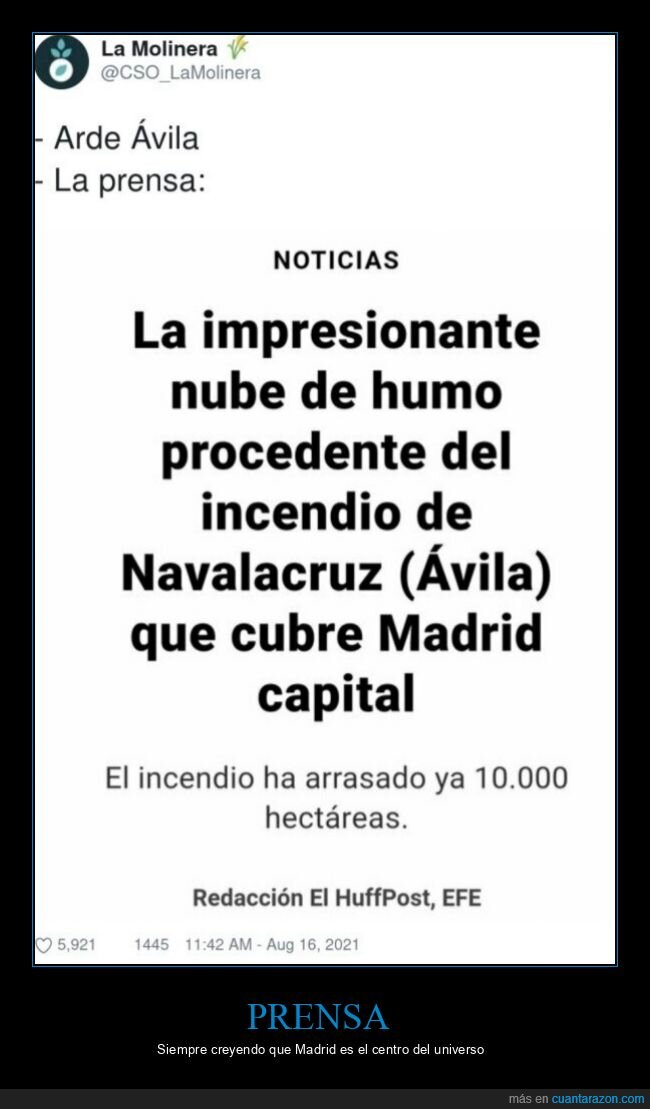 Ávila,incendio,Madrid,prensa