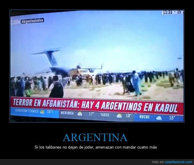 afganistán,argentinos,mandar,más