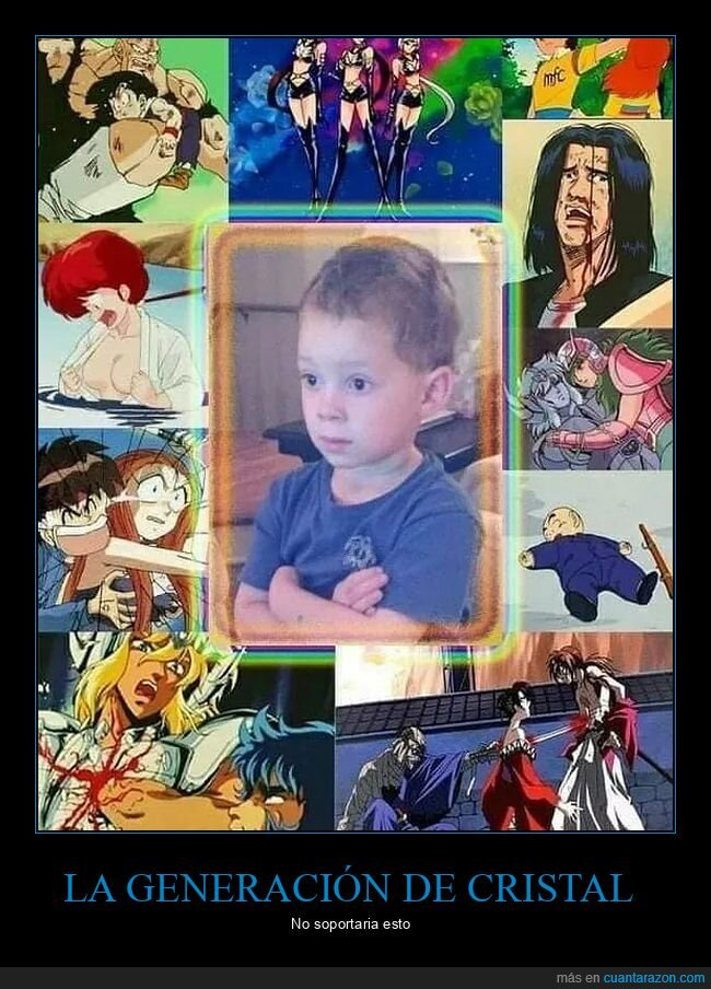 anime,generación de cristal,infancia