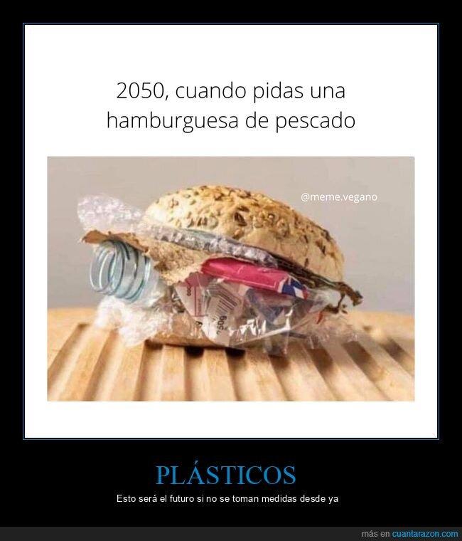 hamburguesa,mar,pescado,plástico