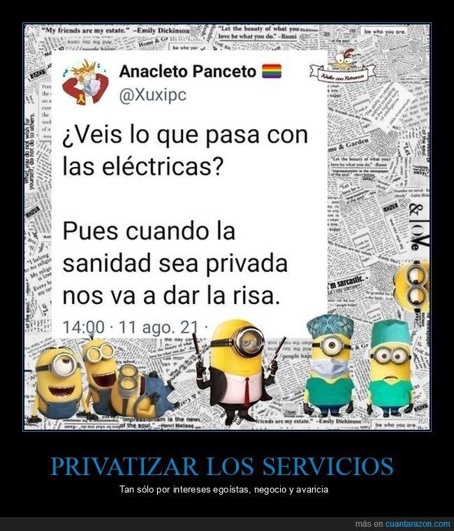 privatización,servicios