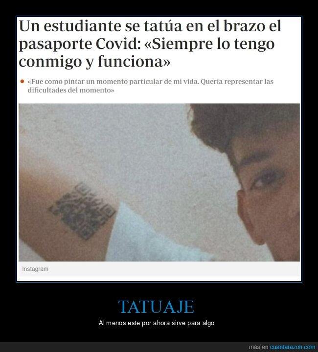 pasaporte covid,tatuaje