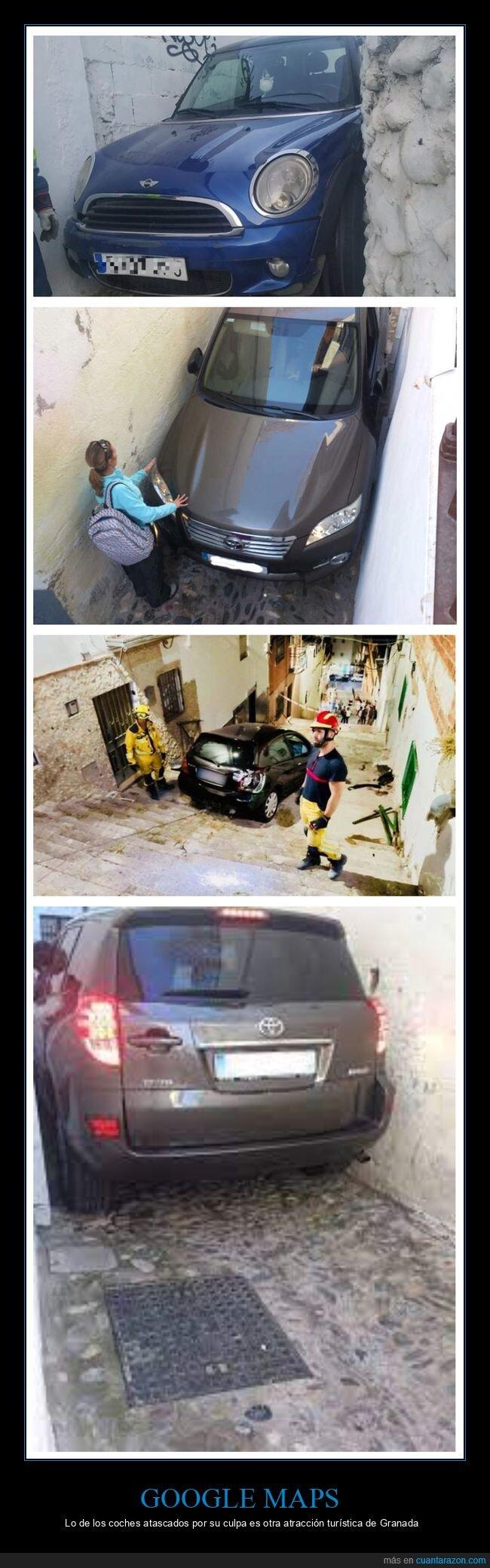 coches,fails,google maps,granada
