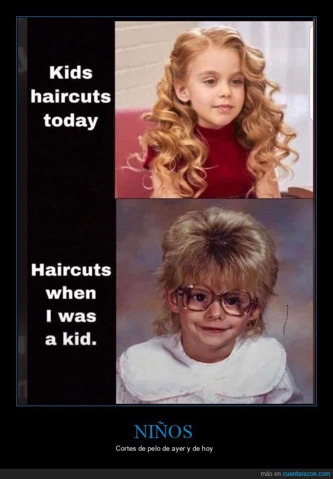 ahora,antes,corte de pelo,niños