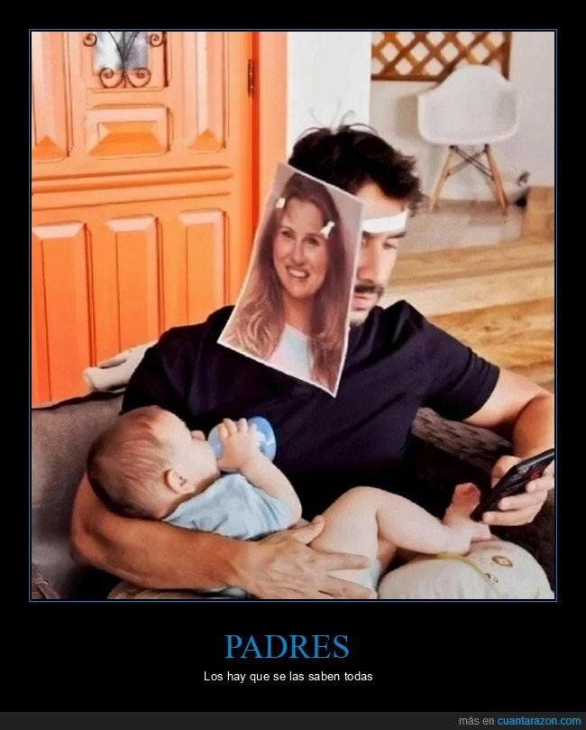 biberón,foto,hijo,madre,padre