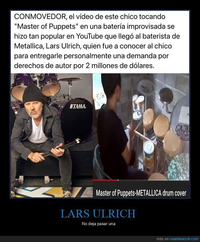 batería,demanda,lars ulrich,master of puppets,metallica
